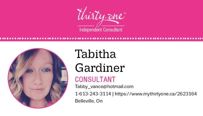 Tabitha Gardiner- Thirtyone